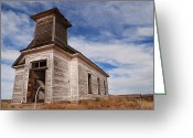 Dilapidated Greeting Cards - Abandoned Church Greeting Card by Melany Sarafis