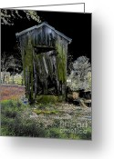Shed Digital Art Greeting Cards - Abandoned Greeting Card by Cindy Roesinger