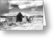Shed Digital Art Greeting Cards - Abandoned  Greeting Card by Denise Oldridge