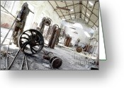 Scratch Greeting Cards - Abandoned Factory Greeting Card by Carlos Caetano