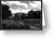 Grey Clouds Digital Art Greeting Cards - Abandoned Grain Elevator in Buffalo Greeting Card by Rose Santuci-Sofranko