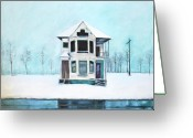 Abandoned House Painting Greeting Cards - Abandoned Home  Greeting Card by Mackenzie  Matthews