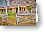 Animal Sport Greeting Cards - Abandoned Horse Stables Greeting Card by Connie Cooper-Edwards