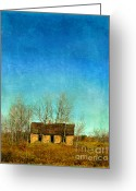 Dismal Greeting Cards - Abandoned House Greeting Card by Jill Battaglia