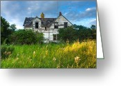 Old Out Houses Greeting Cards - Abandoned House on the Prairies Greeting Card by Matt Dobson