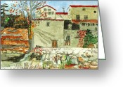 Abandoned House Painting Greeting Cards - Abandoned House Greeting Card by Robert Nishimuta