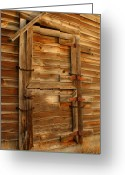 Door Hinges Greeting Cards - Abandoned Greeting Card by Idaho Scenic Images Linda Lantzy