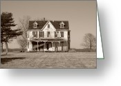 Haunted House Print Greeting Cards - Abandoned II Greeting Card by Richard Ortolano