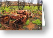 Chev Pickup Greeting Cards - Abandoned Greeting Card by James Mcinnes