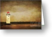 Beacon Greeting Cards - Abandoned Lighthouse Greeting Card by Meirion Matthias