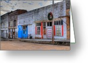 Arkansas Greeting Cards - Abandoned Main Street Greeting Card by Douglas Barnett
