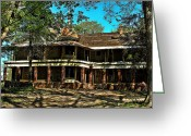 Southern Indiana Greeting Cards - Abandoned Mansion Greeting Card by Kristie  Bonnewell