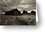 Farmhouse Greeting Cards - Abandoned Greeting Card by Mike  Dawson