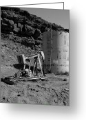 Horsehead Greeting Cards - Abandoned Oil Well Mexican Hat UT Greeting Card by Troy Montemayor