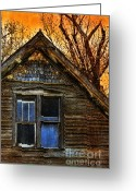 Vintage House Greeting Cards - Abandoned Old House Greeting Card by Jill Battaglia