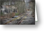Dilapidated Greeting Cards - Abandoned Rails Greeting Card by Lori Deiter