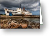 Abandoned  Digital Art Greeting Cards - Abandoned Ship Greeting Card by Adrian Evans