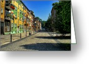 Abandon Digital Art Greeting Cards - Abandoned Street Greeting Card by Mariola Bitner
