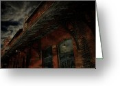 Abandoned Train Greeting Cards - Abandoned Train Station Greeting Card by Scott Hovind