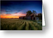 Boxcar Greeting Cards - Abandoned View Greeting Card by Thomas Zimmerman