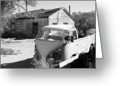 Hot Springs Greeting Cards - Abandoned Volkswagen Van Greeting Card by Troy Montemayor