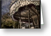 Merry-go-round Greeting Cards - Abandoned Wonder Greeting Card by Andrew Paranavitana