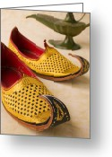 Souk Greeting Cards - Abarian Shoes Greeting Card by Garry Gay