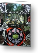 Image John Lennon Greeting Cards - Abbey Road Greeting Card by Michael Kulick
