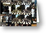 George Harrison Photo Greeting Cards - Abbey Road Photo Shoot Greeting Card by Paul Van Scott