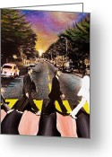 Freedom Painting Greeting Cards - Abbey Road Greeting Card by Steve Will