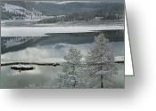 Dreary Greeting Cards - Abchidon Lake Greeting Card by Pavel  Filatov