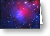 Pandora Greeting Cards - Abell 2744, Pandoras Cluster Greeting Card by Stocktrek Images
