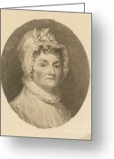 (first Lady) Greeting Cards - Abigail Adams Greeting Card by Photo Researchers