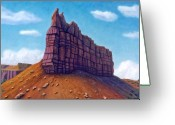 Mountain Landscape Greeting Cards - Abiquiu Greeting Card by Brian  Commerford