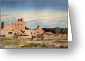Franciscan Greeting Cards - Abo Mission Greeting Card by Sam Sidders