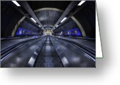 Underground Greeting Cards - Above The Below Greeting Card by Evelina Kremsdorf