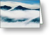 Ronnie Glover Greeting Cards - Above the Clouds Greeting Card by Ronnie Glover