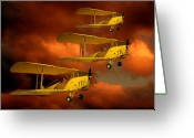 Storm Digital Art Greeting Cards - Above the red Skys Greeting Card by Steven Agius