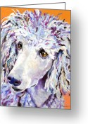 Animal Portrait Pastels Greeting Cards - Above The Standard   Greeting Card by Pat Saunders-White