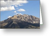 Snow Capped Greeting Cards - Above the Tree Line - Nevada Greeting Card by Brendan Reals