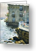 Sausalito Greeting Cards - Above Tide Hotel Greeting Card by John West