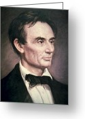 Republican Painting Greeting Cards - Abraham Lincoln Greeting Card by George Peter Alexander Healy