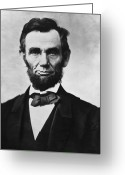 Store Digital Art Greeting Cards - Abraham Lincoln Greeting Card by War Is Hell Store