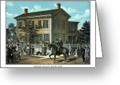 Emancipation Greeting Cards - Abraham Lincolns Return Home Greeting Card by War Is Hell Store