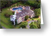 Chestnut Hill Wyndmoor Blue Bell Aerial Photographs Greeting Cards - Abrahams Circle Home Villanova Pennsylvania Greeting Card by Duncan Pearson