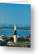 Beach Posters Greeting Cards - Absecon Lighthouse Atlantic City Greeting Card by Bill Cannon