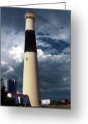 Lighthouse Home Decor Greeting Cards - Absecon Lighthouse Greeting Card by Skip Willits