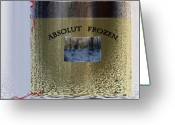 Absolut Greeting Cards - Absolut frozen Greeting Card by Ove Rosen