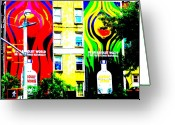 Absolut Greeting Cards - Absolut Heaven in SOHOs NY Greeting Card by Funkpix Photo  Hunter