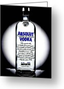 Absolut Greeting Cards - Absolut Vodka Greeting Card by Luis Ludzska